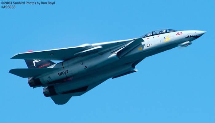 USN F-14D Tomcat #163414 military aviation air show stock photo #4306