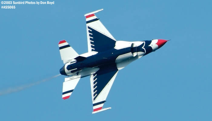 USAF Thunderbird F-16 Falcon military aviation air show stock photo #4337