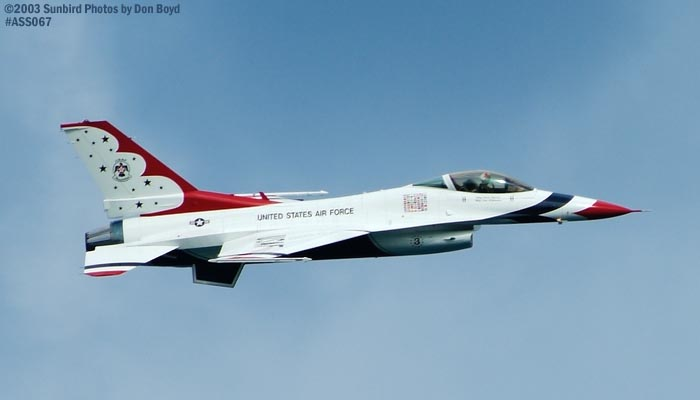 USAF Thunderbirds F-16 Falcon military aviation air show stock photo #4384