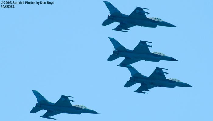 USAF Reserve F-16 Falcons military reserve aviation air show stock photo #4408