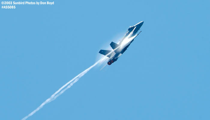 USN F/A-18 Hornet military aviation air show stock photo #4415