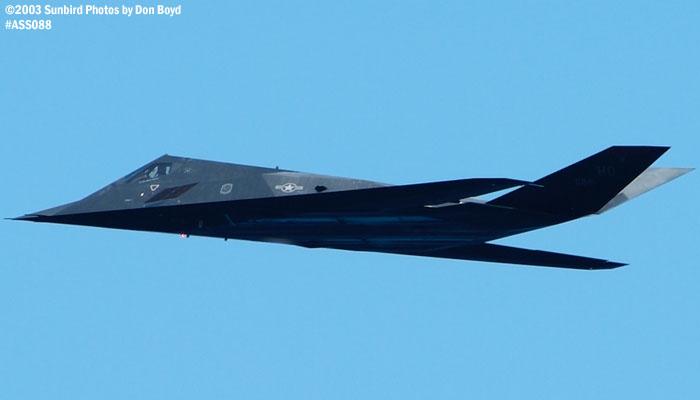 USAF F-117A Nighthawk military aviation air show stock photo #4419