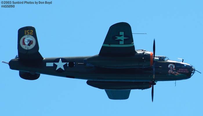 Kermit Weeks B-25 military aviation air show stock photo #4423