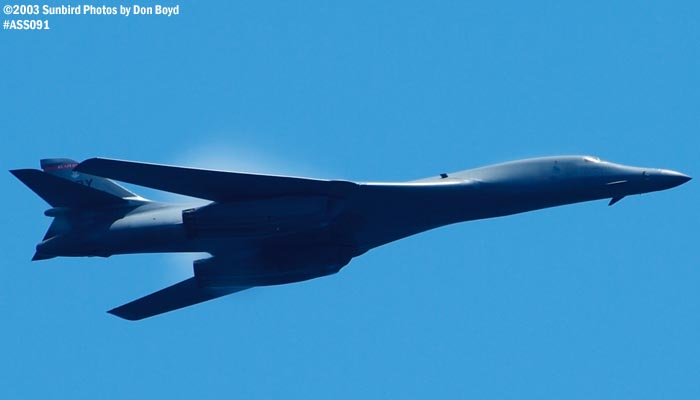 U. S. Air Force B-1B Lancer bomber military aviation air show stock photo #4429