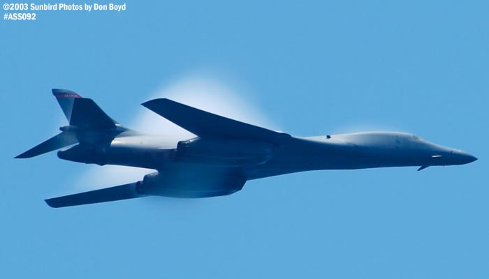 U. S. Air Force B-1B Lancer bomber military aviation air show stock photo #4430