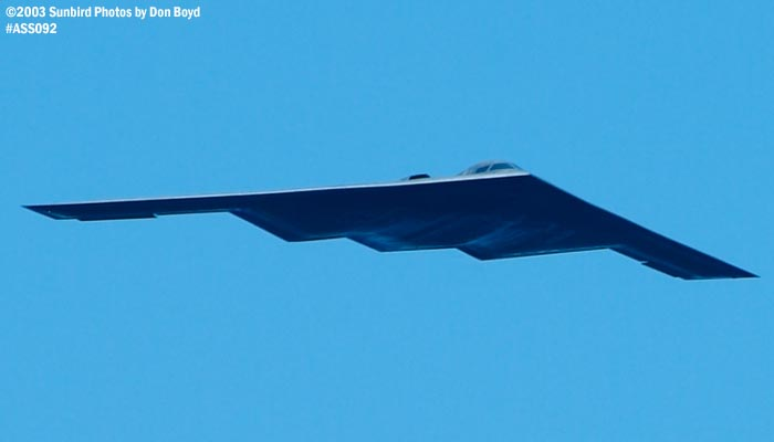 USAF B-2 Spirit military bomber aviation air show stock photo #4435