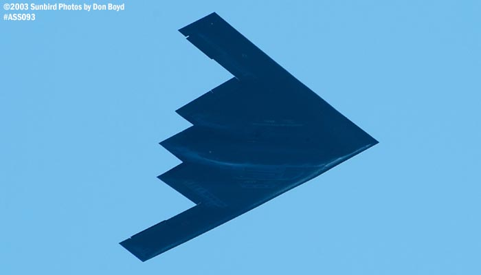 USAF B-2 Spirit military bomber aviation air show stock photo #4436