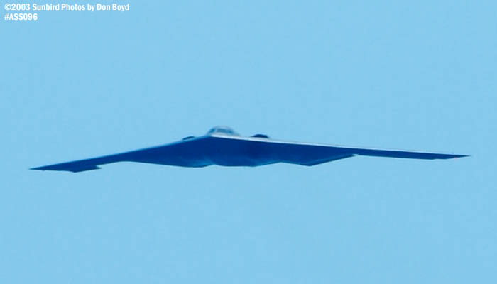USAF B-2 Spirit military bomber aviation air show stock photo #4441