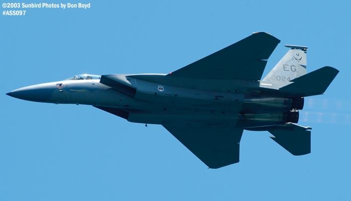 USAF F-15C-27-MC Eagle AF80-024 military aviation air show stock photo #4444