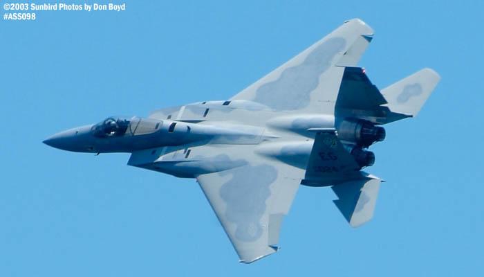 USAF F-15C-27-MC Eagle AF80-024 military aviation air show stock photo #4449