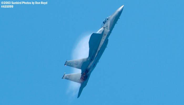 USAF F-15C-27-MC Eagle AF80-024 military aviation air show stock photo #4450