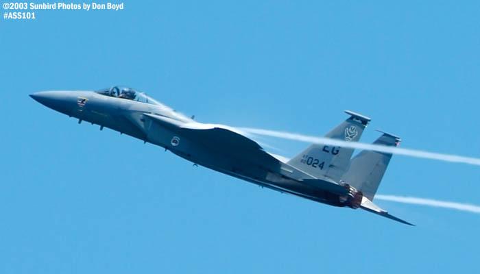 USAF F-15C-27-MC Eagle AF80-024 military aviation air show stock photo #4452