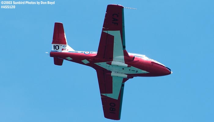 Canadian Forces Snowbirds Canadair CT-114 Tutor military aviation stock photo #4483