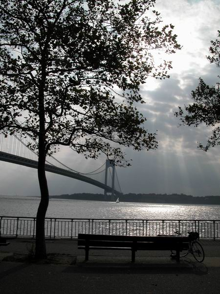 quiet moment by the verrazano