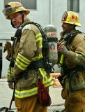 Next Morning Firemen Suiting Up