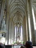 Inside the Cathedral of Saints Peter and Paul in Brno