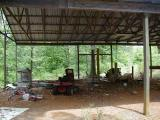 under shop / barn structure - viewed from Noni's Cabin (left side)