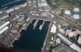 53-Pu'uloa (Pearl Harbor) East Loch, with 3 submarines
