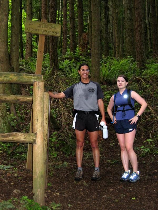 Tony & Deb -- Po Poo Point/West Tiger RR Grade/One View intersection gate
