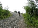 Tony & Deb running down T1