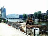 A view from the other side of Scheepmakershaven. Where sand is now will be built a 4 storys deep parking garage