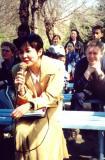 Karioke in Panfilov Park: Almaty 1998