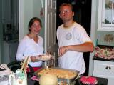 Malinda receives first serving