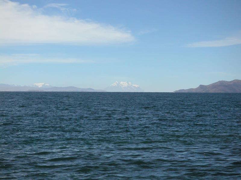 Our first view of Lake Titicaca