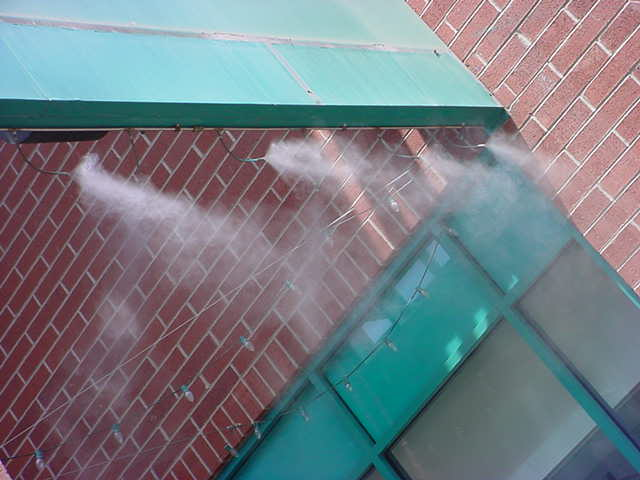 water misters <br>on Mill avenue