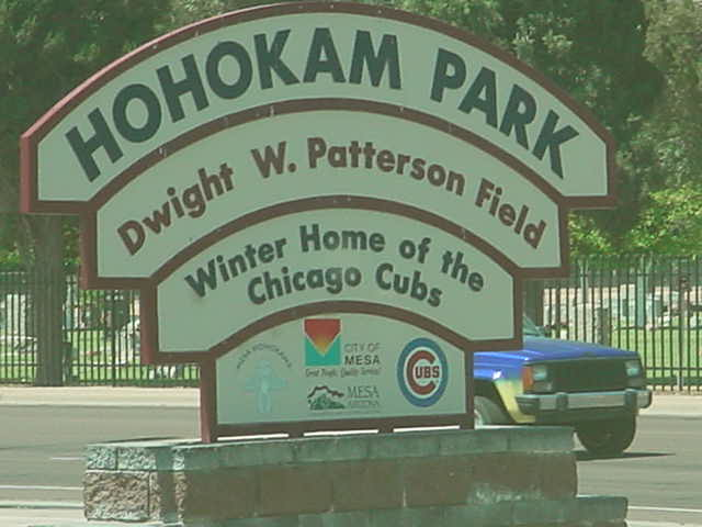 HOHOKAM PARK Dwight W Patterson Field Winter home of the Chicago Cubs