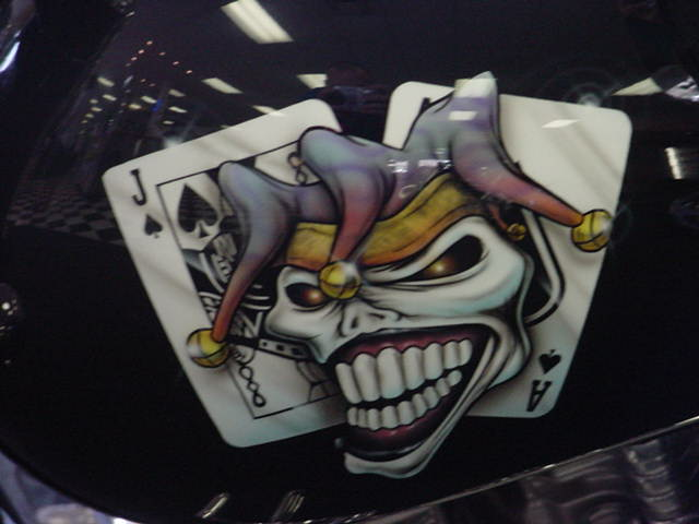 joker... beautiful custom motorcycle decal