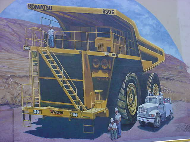 beautiful painting on the wall at the mining and mineral museum in downtown Phoenix Arizona