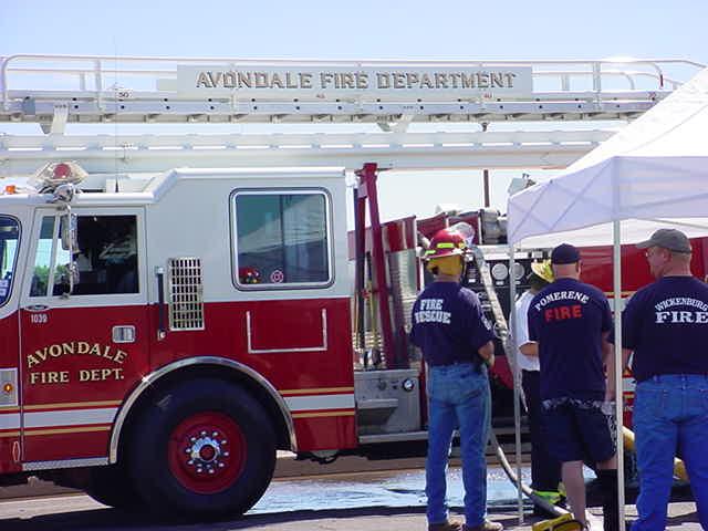 Avondale Fire Dept. <br>training in <br>Mesa Arizona USA