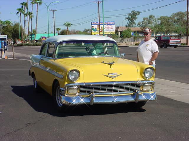 yellow 56 Chevy