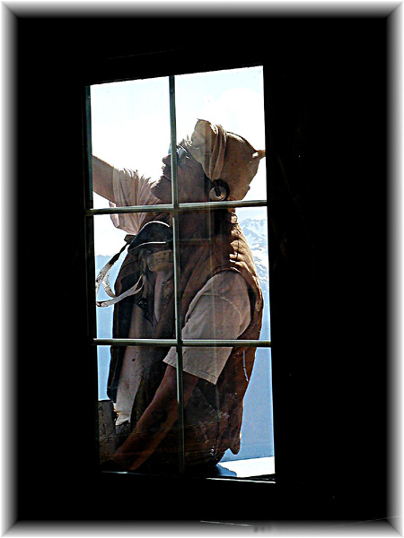 Window washer at hurricane ridge