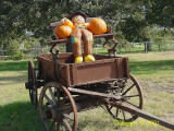 wagon decorated for the Fall season
