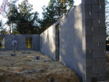 Completed rear wall