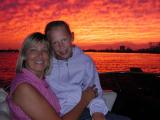 Charleston sunset and girls