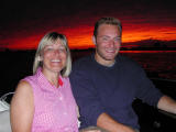 Mom and Dan with sunset