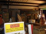 the garage... lots of boxes!