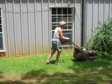 ever seen mom mowing grass?