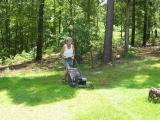 (I didn't mow ALL of it... had a little help from M & Roo)