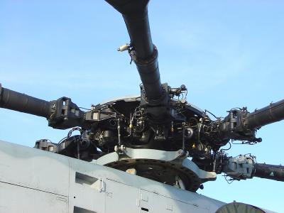 CH53 main gear box (transmission) and main rotor system