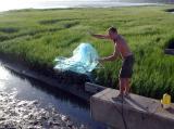 Dan nets some bait