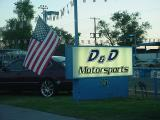 American flag at D & D Motorsports in Scottsdale Arizona