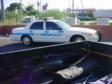 policeman waiting in Mesa