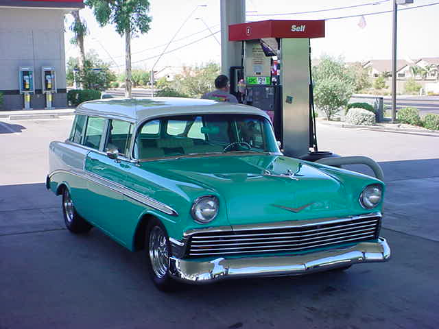 beautiful 56 Chevy wagon