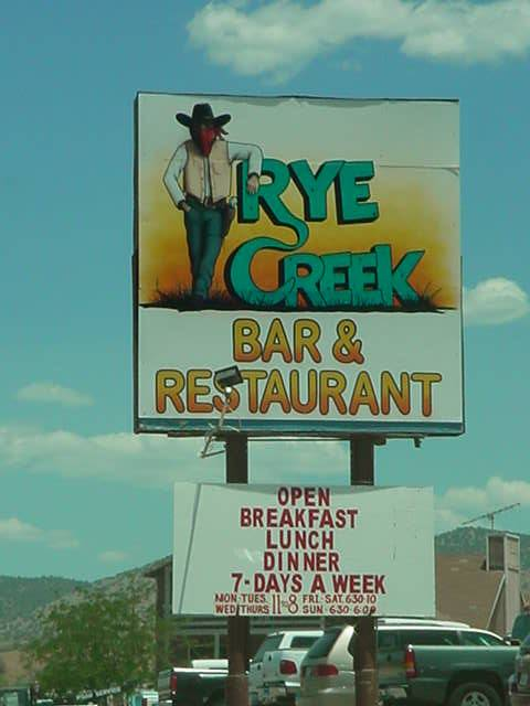 Rye Creek Bar & Restaurant <br> 928-474-6671