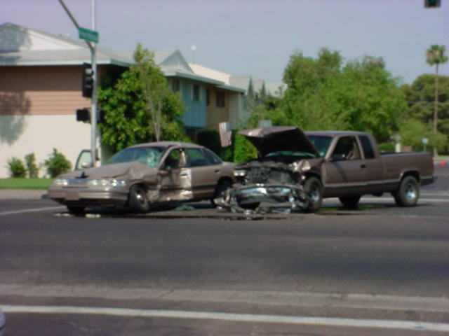 automobile accident on Mill Ave. in Tempe Arizona