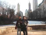 Nicole & Eddy Posing In Central Park